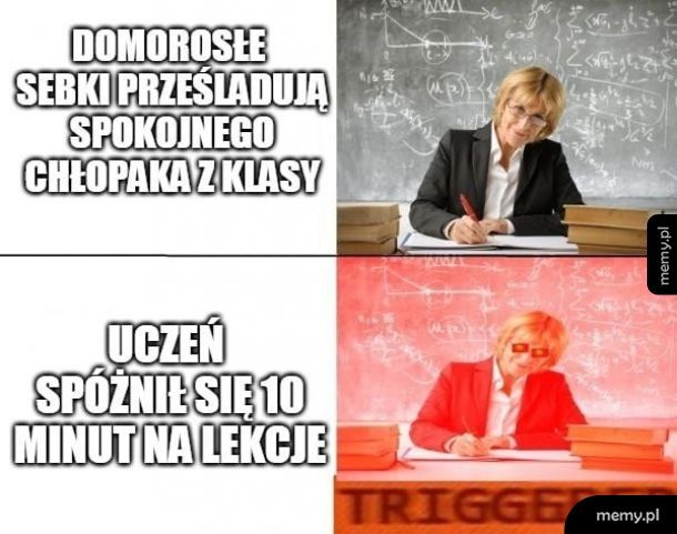 Typowa nauczycielka
