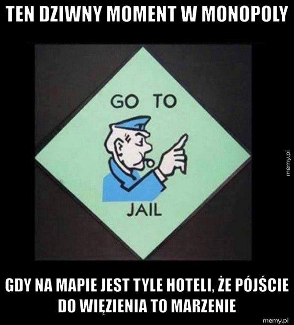 Ten dziwny moment w Monopoly  gdy na mapie jest tyle hoteli, że pójście do więzienia to marze
