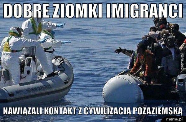 Dobre ziomki imigranci Nawiązali kontakt z cywilizacją pozaziemską