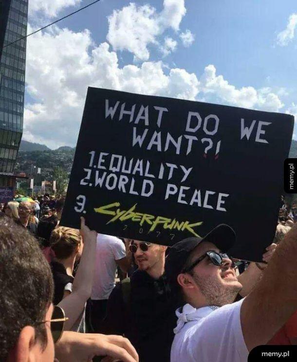Czego chcemy
