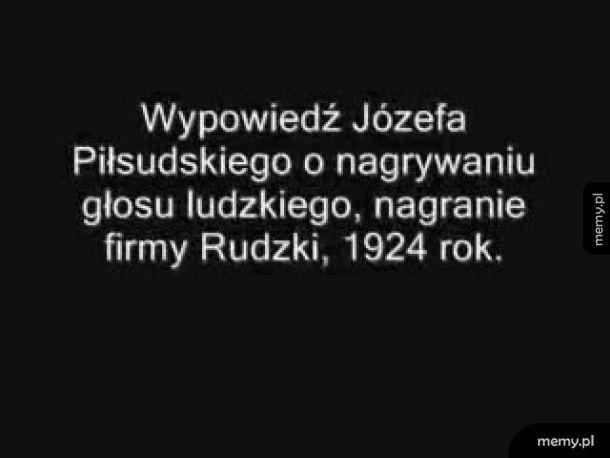 Nagrany głos Józefa Piłsudskiego sprzed 95 lat