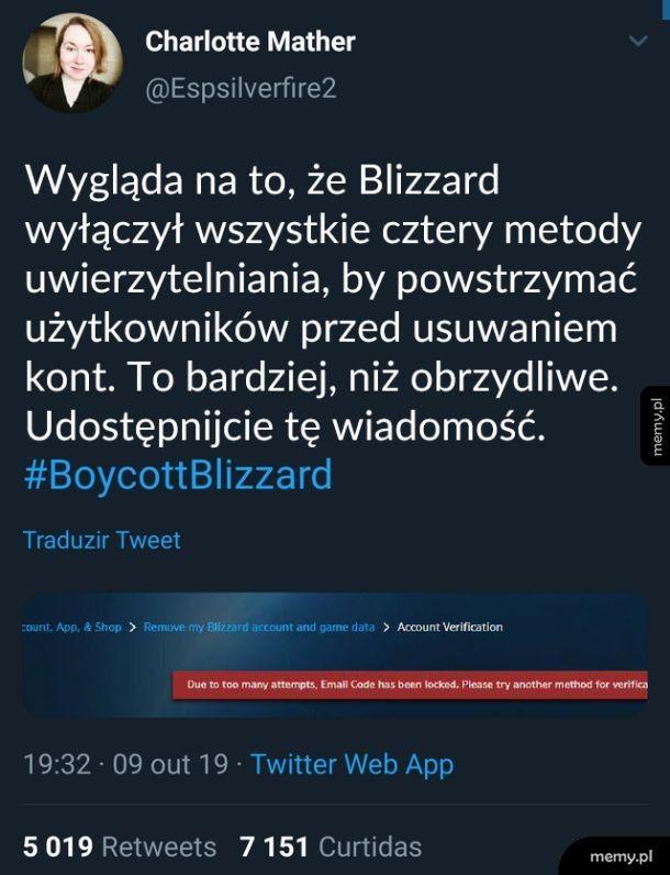 #BoycottBlizzard