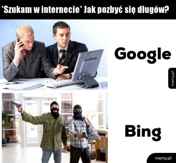 Bing jak zawsze pomoże