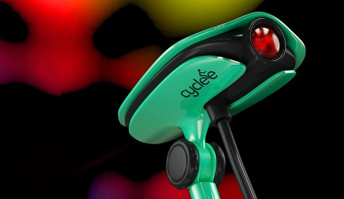 Projektor sygnałów montowany na siodełku roweru