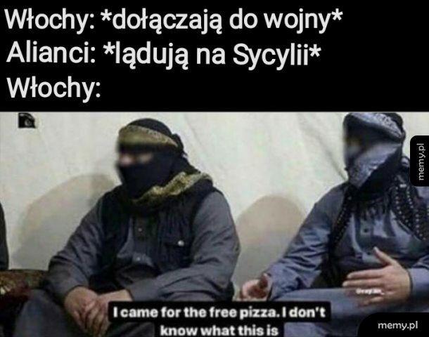 Free pizza