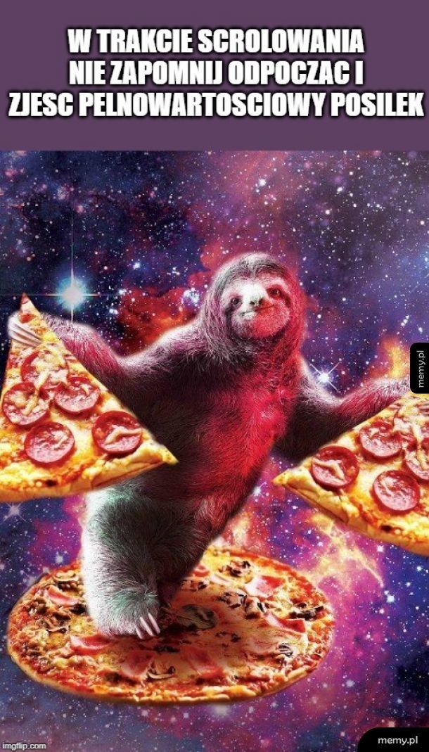 Leniwiec i pizza blessing