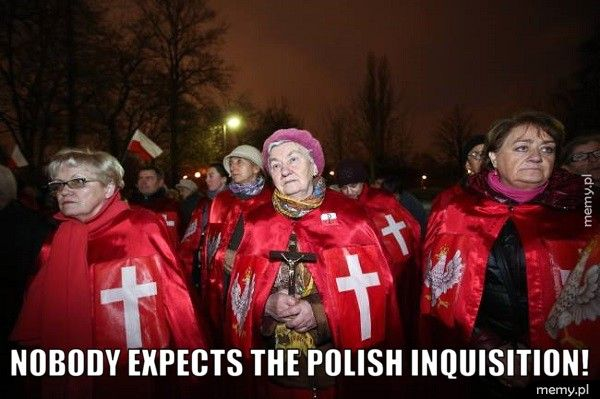 nobody expects the polish inquisition!
