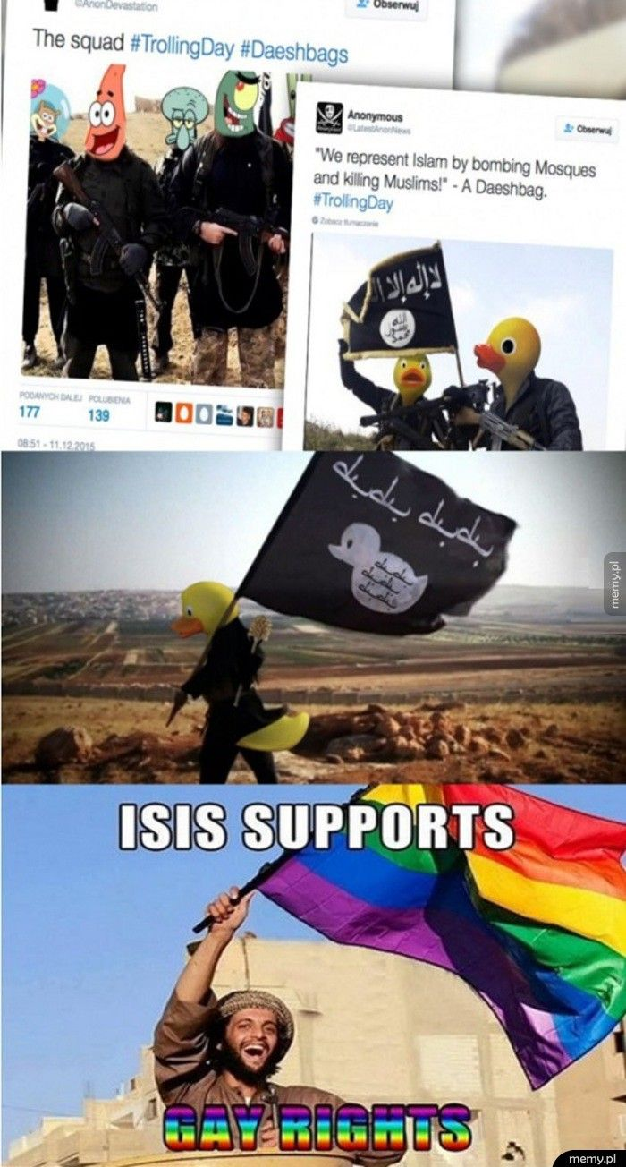 Anonymous trollują ISIS