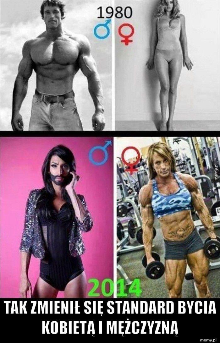 Tak zmienił się standard bycia kobietą i mężczyzną