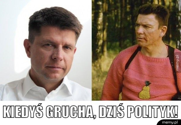 Kiedyś Grucha, dziś polityk!