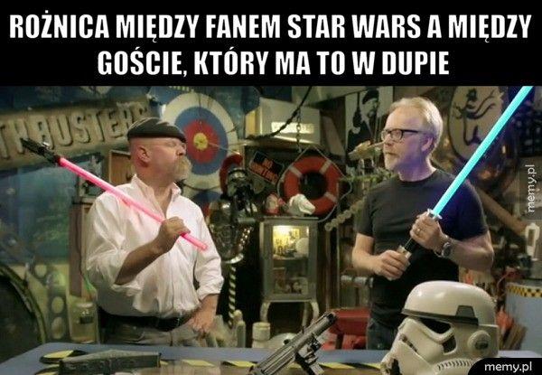 Rożnica między fanem Star Wars a między goście, który ma to w du