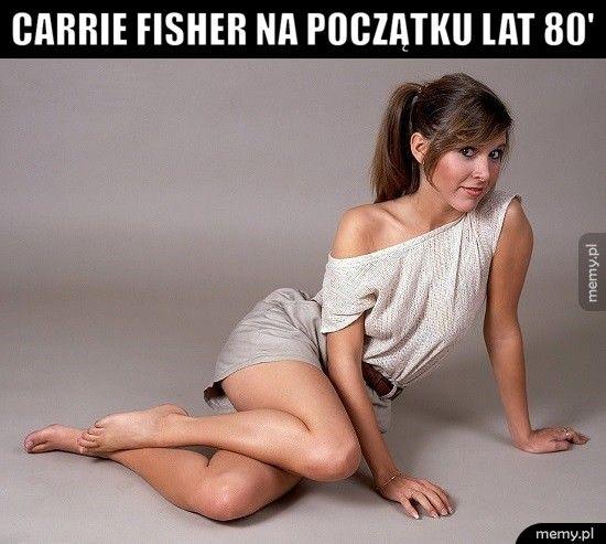 Carrie Fisher na początku lat 80'