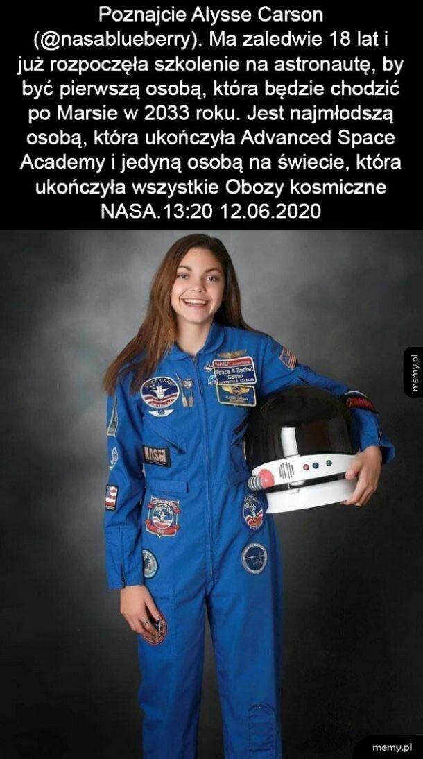 Najmłodsza astronautka