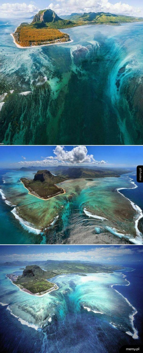 Największy na świecie wodospad podwodny (Mauritius)