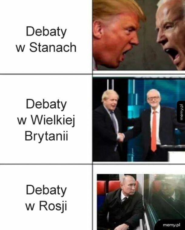 Debaty w Polsce: *nie przyjechał*