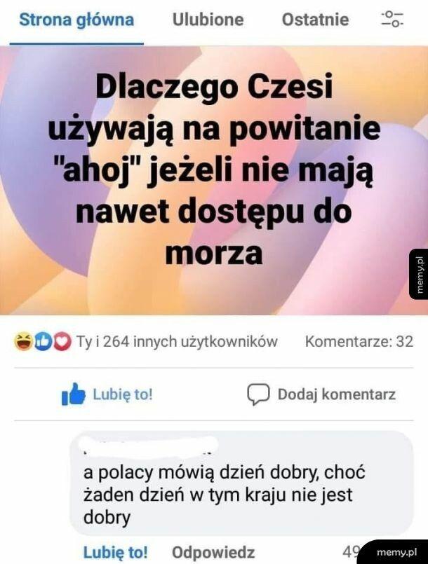 Czesi: Polacy 1:0