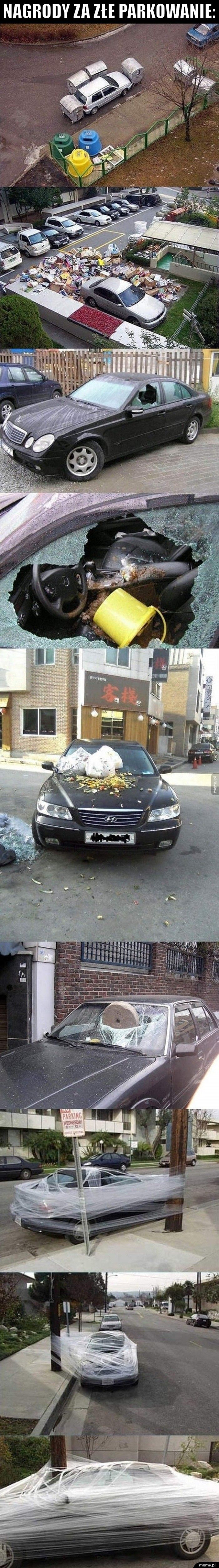 Nagrody za złe parkowanie