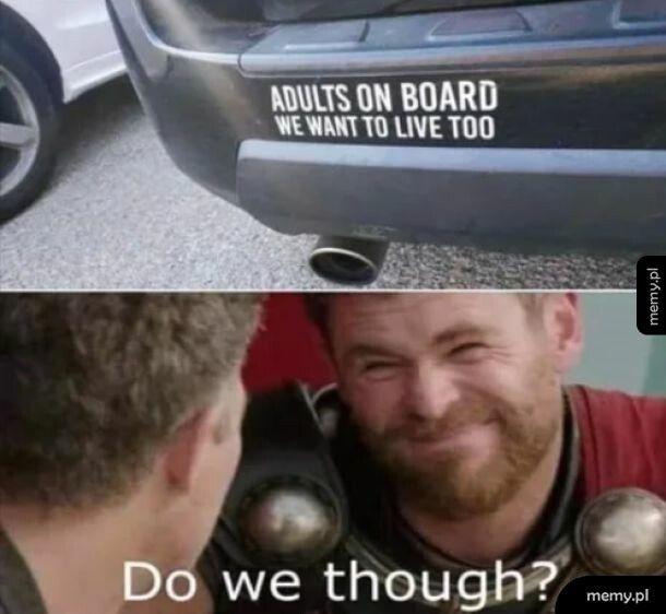 Adults on board