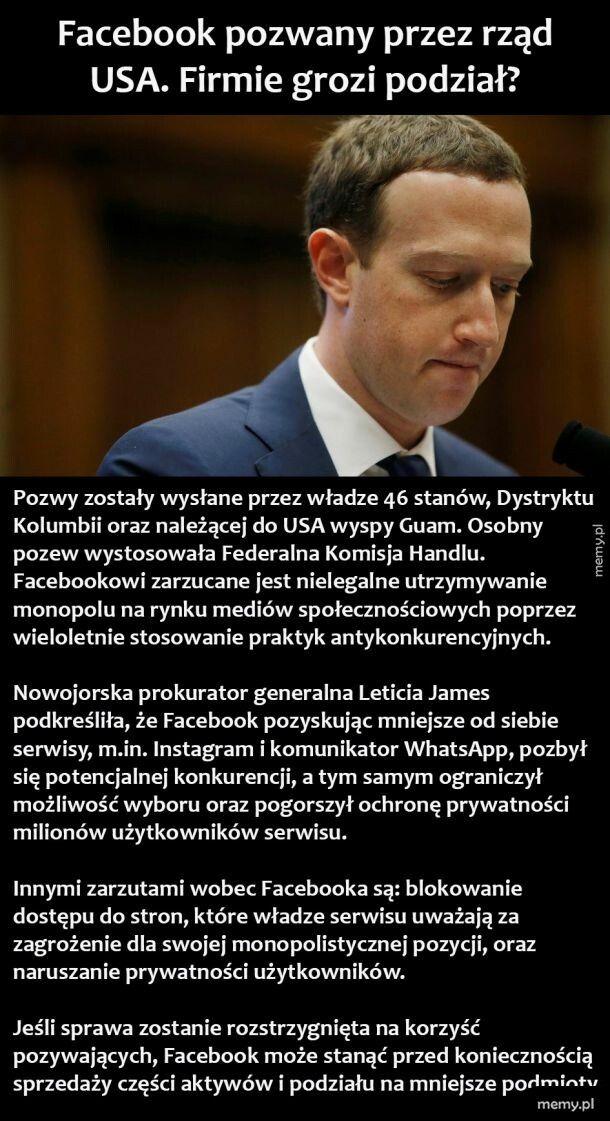 Facebook pozwany