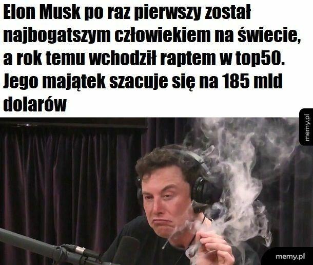Elon podciera się hajsem