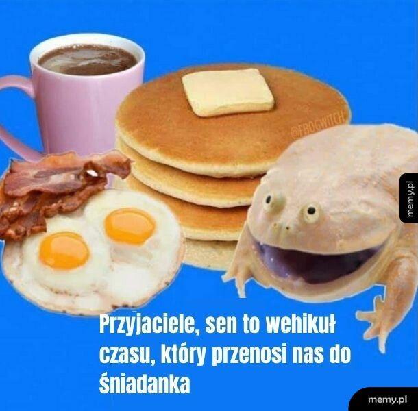 Dobrze gada ta żaba! Dać jej śniadanka!