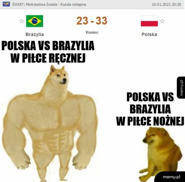 POTĘŻNA reprezentacja Polski zdemolowała Brazylię na mistrzostwach świata w piłce ręcznej