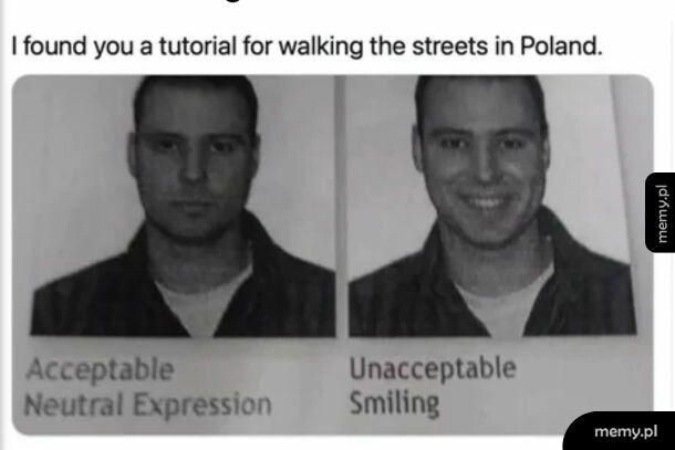 Naturalny wyraz twarzy w Polsce
