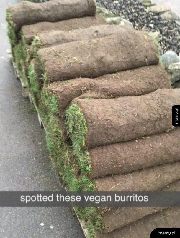 Wegańskie burrito.