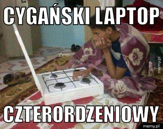 Cygański laptop czterordzeniowy