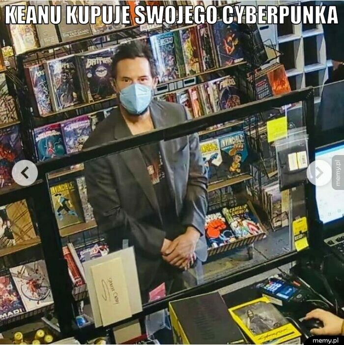 keanu kupuje swojego cyberpunka