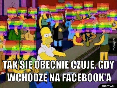 tak się obecnie czuję, gdy wchodzę na facebook'a