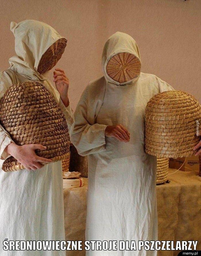Średniowieczne stroje dla pszczelarzy