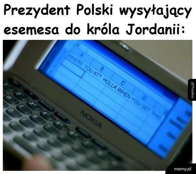SMS do króla Jordanii