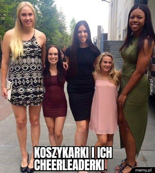 koszykarki i ich   cheerleaderki
