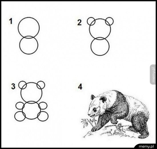 Jak narysować pandę