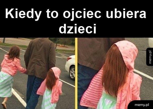 Kiedy ojciec ubiera dzieci