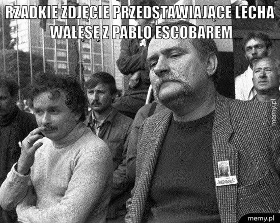 Rzadkie zdjęcie przedstawiające Lecha Wałęsę z Pablo Escobarem