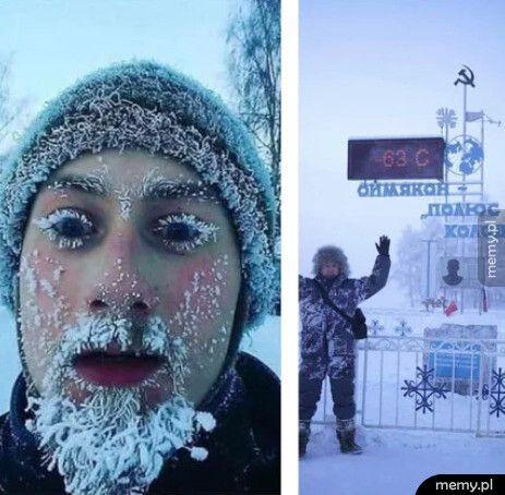 Kiedy w Rosji jest - 63 poniżej zera