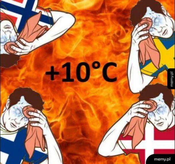 Skandynawskie upały