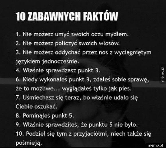 10 zabawnych faktów