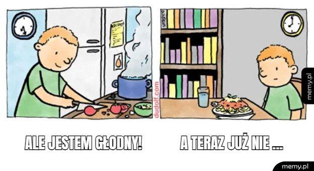Czemu głód zawsze mija, kiedy skończysz gotować?