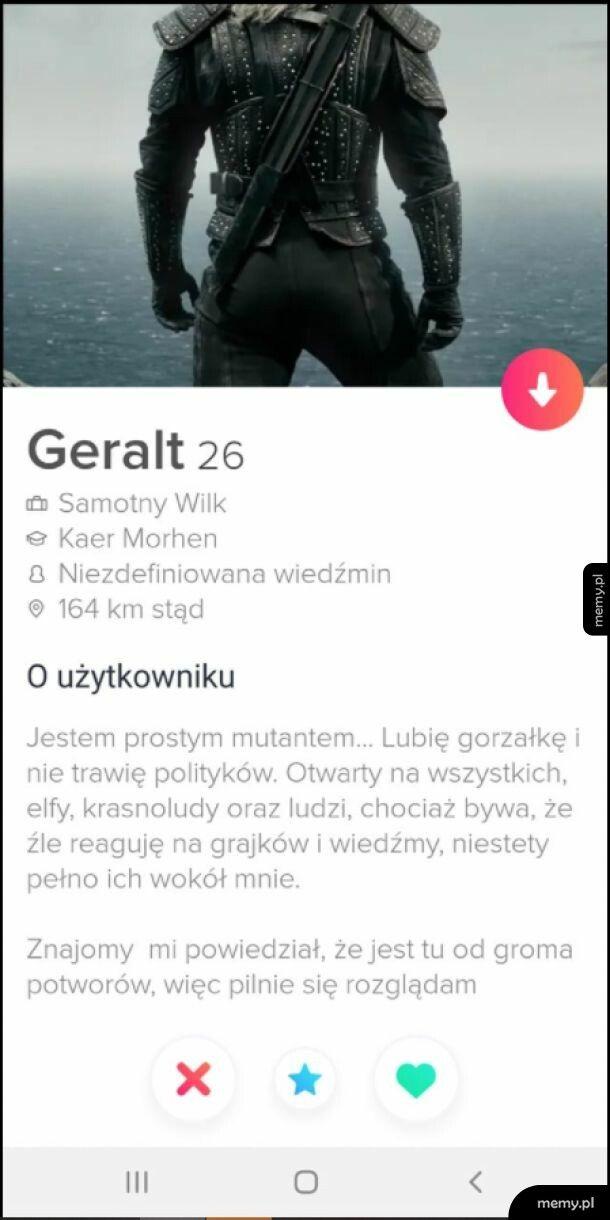 Geralt na Tinderze