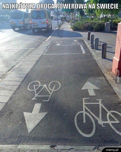 Najkrótsza droga rowerowa na świecie
