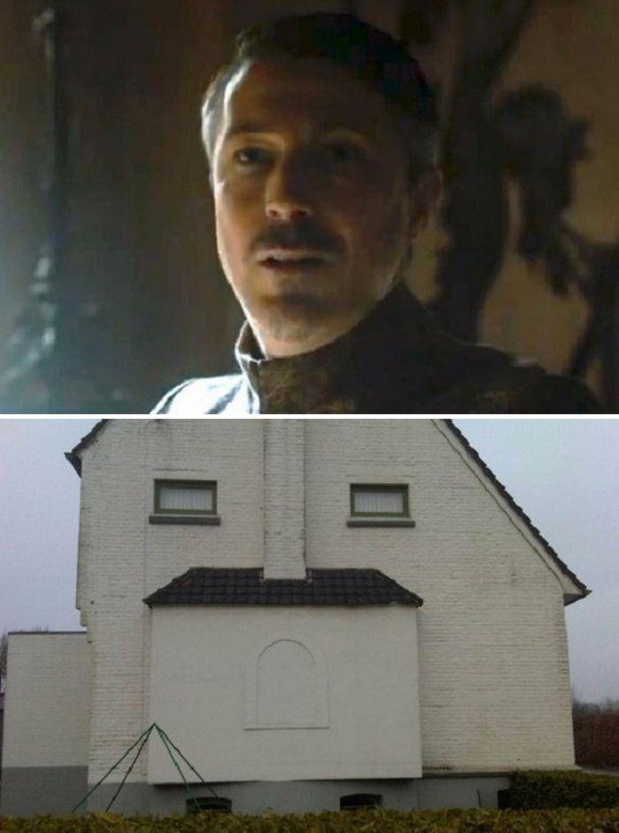 Budynki przypominające bohaterów Gry o Tron