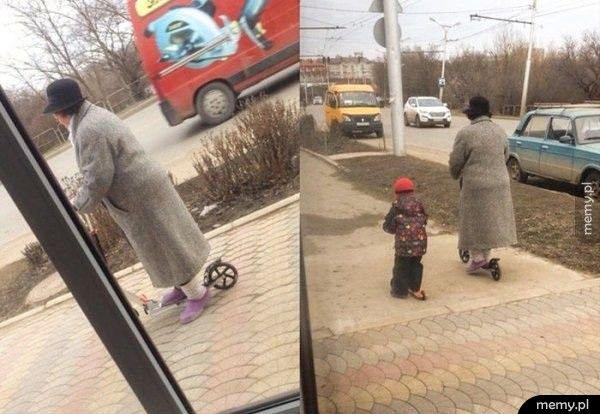 Wyluzowana babcia