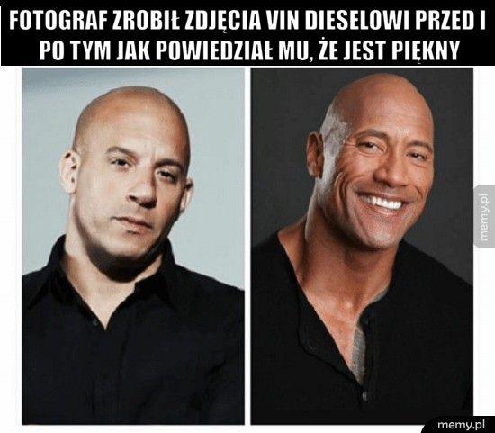 fotograf zrobił zdjęcia Vin Dieselowi przed i po tym jak powiedz