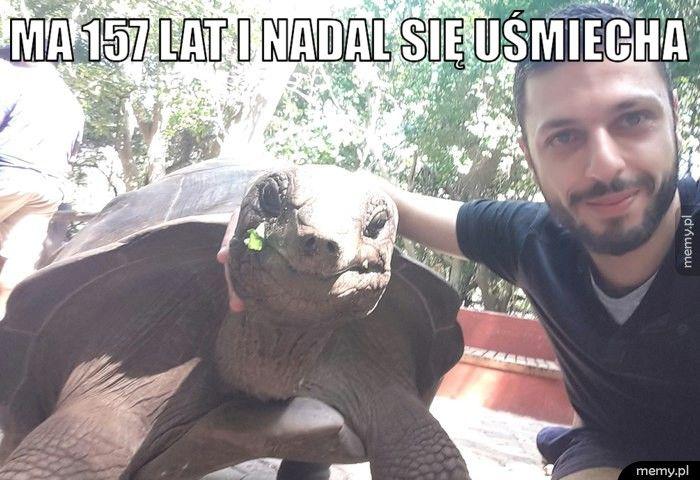 Ma 157 lat i nadal się uśmiecha.