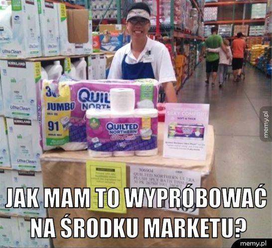 Jak mam to wypróbować na środku marketu?