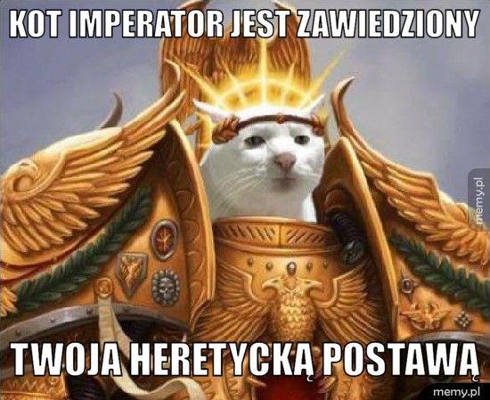 Kot imperator jest zawiedziony Twoja heretycką postawą