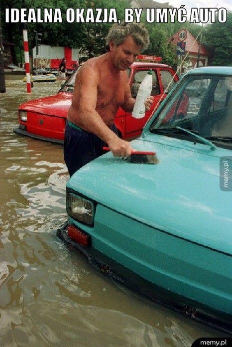 Idealna okazja, by umyć auto